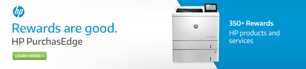 Get Rewarded for Purchasing Original HP Printing Supplies With PurchasEdge